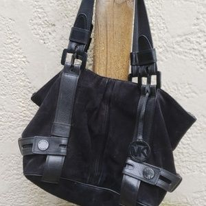 Black Suede Michael Kohrs Purse